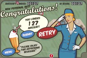 Flight Control high score 127!