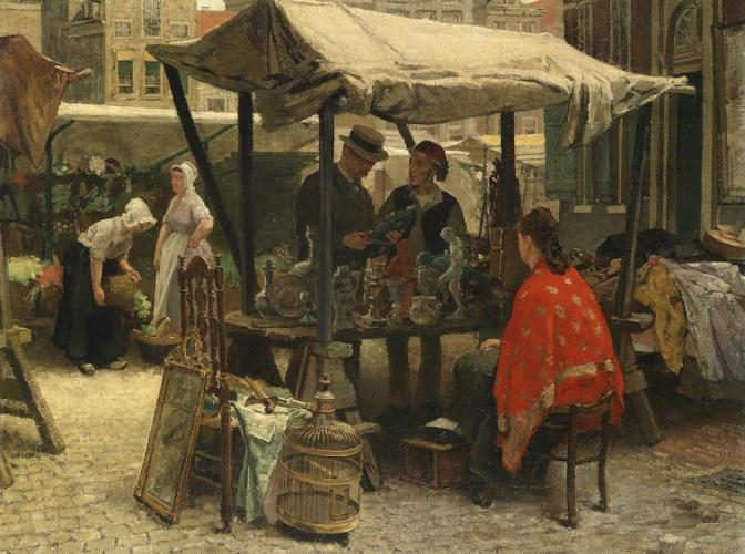"""""""Theodorus Ludovicus Mesker Bric-a-brac"""" by Theo Mesker - Dorotheum. Licensed under Public domain via Wikimedia Commons - http://commons.wikimedia.org/wiki/File:Theodorus_Ludovicus_Mesker_Bric-a-brac.jpg#mediaviewer/File:Theodorus_Ludovicus_Mesker_Bric-a-brac.jpg"""